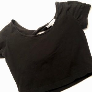 Black crop top - size small